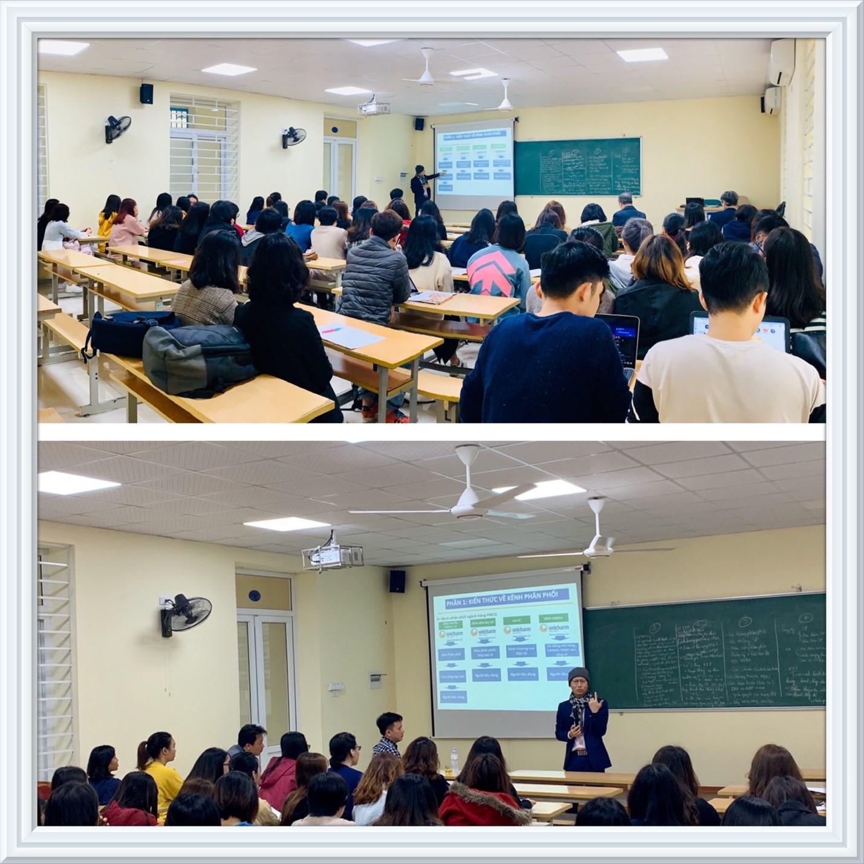 Bộ môn Quản trị bán hàng & Digital marketing (QTBH&DM) tổ chức phổ biến kế hoạch thực tập tốt nghiệp cho sinh viên Chuyên ngành Quản trị bán hàng Khoá 58 và gặp gỡ doanh nghiệp